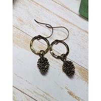 Pinecone Dangle Earrings