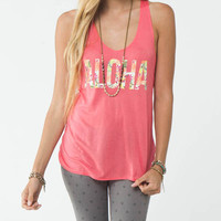 O'neill Aloha Womens Tank Coral  In Sizes
