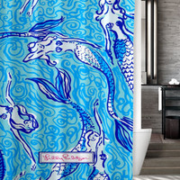 "New Mermaid Lilly Pulitzer Custom Shower Curtain 60"" x 72"""