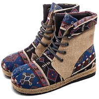 Gypsy Lace Up Ankle Boots