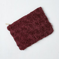 Vintage Inspired Chic to Chic Clutch in Wine by ModCloth