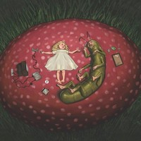 """Alice And The Caterpillar"" - Art Print by Ryan De Haaff"