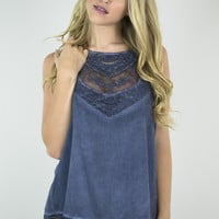 Lace and Buttons Classy Tank