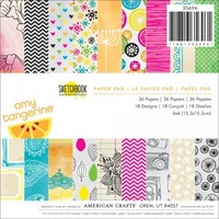 """American Crafts 6""""x6"""" Paper Pad - Amy Tangerine Sketchbook 35696 - 36 Sheets"""