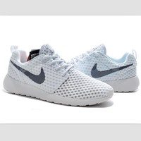 NIKE Roshe Run cellular breathable running shoes White