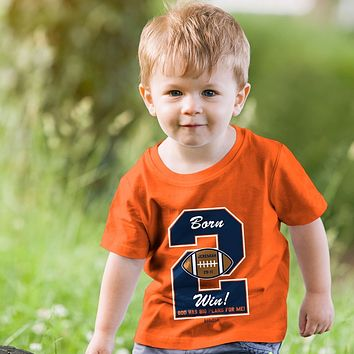 Kerusso Born 2 Win Football Christian Baby Toddler Youth Bright T Shirt