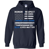 Honor and Respect Blue lives matter