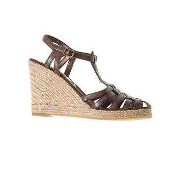 90's Steve Madden Brown Espadrilles with Woven Wedge by NewmanHall