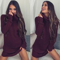 Knitted Party Sweater Dress