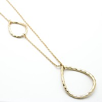Oval long necklace