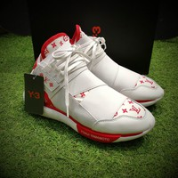 Best Online Sale Louis Vuitton LV x Y-3 QASA HIGH  White Red Casual Shoes Sport Shoes