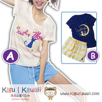 New Simple Sailor Moon Tshirt and Shorts Comfortable Home Clothes Summer Outfit 2 Sets KK712