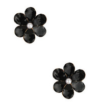Pearlescent Flower Earrings