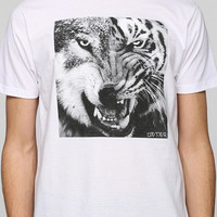 Deter Split Wolf Tiger Tee - Urban Outfitters