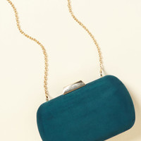 Posh Particulars Clutch in Teal   Mod Retro Vintage Wallets   ModCloth.com