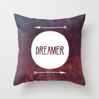 Dreamer Throw Pillow by Urban Exclaim