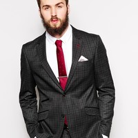 Guide Check Suit Jacket In Slim Fit at asos.com