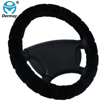 """Winter Warm Imitation FUR STEERING WHEEL COVER For Car Steering Wheel 14-15""""M Size 95% Cars Non-slip Free Shipping"""