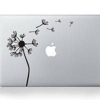 dandelion macbook decal macbook pro decal mac sticker macbook air decal apple macbook decal stickers for 11 13 15 17 inch