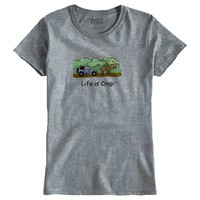 Moose In Road Ladies T-Shirt