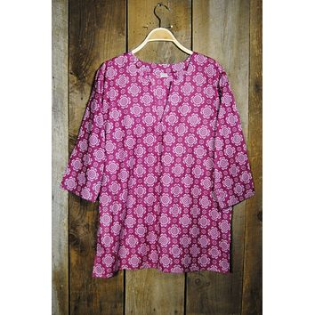 Cotton Tunic Top Tory in Purple