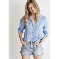 Pocket Button Down Santorini Blue