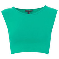 Basic Sleeveless Crop Top - Bralets & Cropped Tops - Jersey Tops  - Clothing