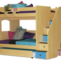 Glendale Full Over Full Stairway Bunk Bed