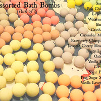 Mixed Fragrance Bath Bomb Set: Pack of 3 Assorted Scents