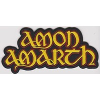 Amon Amarth Iron-On Patch Yellow Letters Logo
