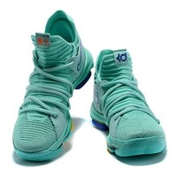 Nike Mens Kevin Durant KD 10 Mint Green 3 Basketball Shoes