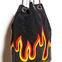 Repurposed Flame Bucket Bag