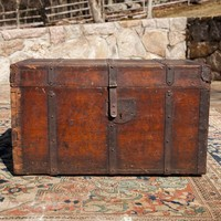 Antique 18th Century Wooden Trunk