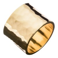 Men's Hammered Wide Ring