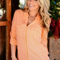 CITY LIFE BUTTON UP TOP IN APRICOT