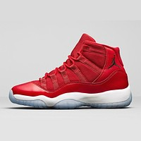 Air Jordan 11 Retro Win Like 96 AJ11 Gym Red Sneakers