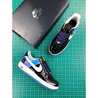 Playstation X Nike Air Force 1 Black Blue Sport Shoes