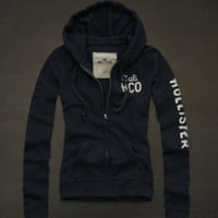 Hollister by Abercrombie Womens Avalon Place Navy Blue Hoodie XS