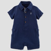 Baby Boys' Canvas Romper - Just One You™ Made by Carter's® Navy