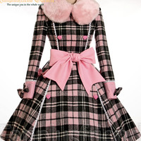 Sweet Lolita Double Breasted Thick Wool Warm Coat
