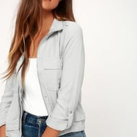 Zoey Light Grey Jacket