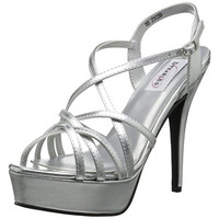 Dyeables, Inc Womens Faux Leather Strappy Platform Heels