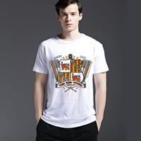 Tee Strong Character Men's Fashion Short Sleeve Fashion Cotton Summer Casual T-shirts = 6450400451