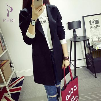 Sweater Coat Long Sleeve