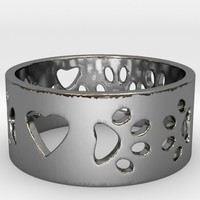 I Love My Dog Ring Ring Size 7 by BloomingVineDesign on Shapeways