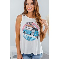 Ice Cream Co. Muscle Tank-White