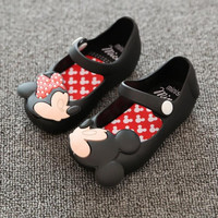 Crocs Style Mini Shoes 2016 Summer girls Sandals Cute Girls shoes Children minnie Baby Shoes For Girl shoes sandal