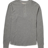 Levi's Long Sleeve Henley T Shirt in Waffle Fabric