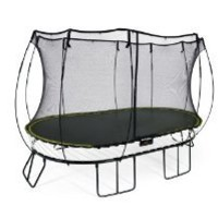 Springfree Trampoline - 8x13ft Large Oval With Basketball Hoop & Ladder