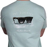 Classic Shades Tee in Light Green by Southern Point Co.